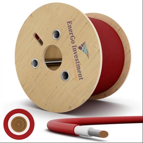 Szolár kábel 6mm2 piros 500m